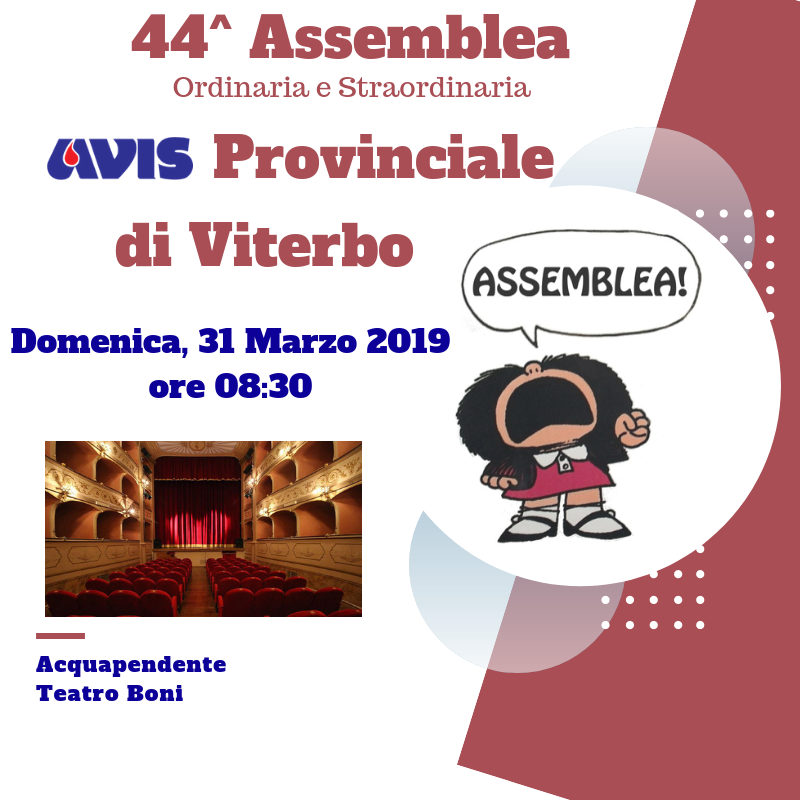 44^ Assemblea Prov.le Avis Viterbo